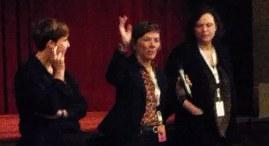 Director Barb Taylor at Q&A after screening